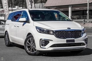2018 Kia Carnival YP MY19 Platinum Clear White 8 Speed Sports Automatic Wagon.