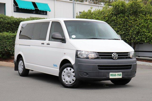 Used Volkswagen Transporter T5 MY11 Crew Low Roof LWB DSG, 2011 Volkswagen Transporter T5 MY11 Crew Low Roof LWB DSG White 7 Speed Sports Automatic Dual Clutch