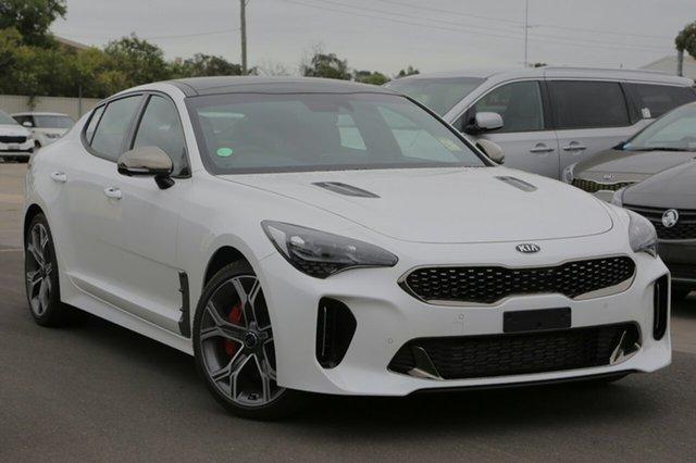 New Kia Stinger CK MY19 GT (blk LTH W Michelin Tyr), 2019 Kia Stinger CK MY19 GT (blk LTH W Michelin Tyr) Snow White Pearl 8 Speed Automatic Sedan