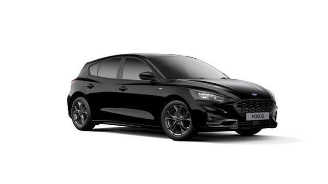 New Ford Focus SA 2019MY ST-Line, 2018 Ford Focus SA 2019MY ST-Line Shadow Black 8 Speed Automatic Hatchback