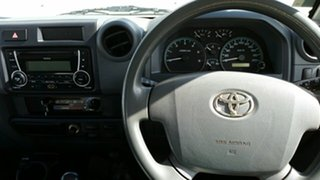 2014 Toyota Landcruiser VDJ79R MY13 Workmate French Vanilla 5 Speed Manual Cab Chassis