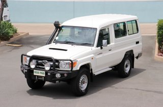 2015 Toyota Landcruiser VDJ78R GXL Troopcarrier French Vanilla 5 Speed Manual Wagon