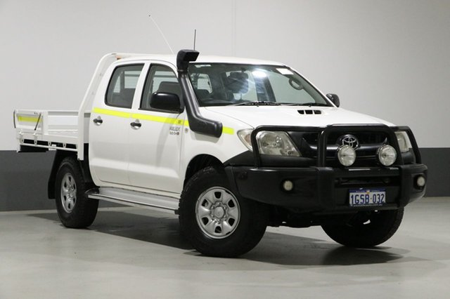 Used Toyota Hilux KUN26R MY11 Upgrade SR (4x4), 2011 Toyota Hilux KUN26R MY11 Upgrade SR (4x4) White 5 Speed Manual Dual Cab Chassis