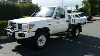 2014 Toyota Landcruiser VDJ79R MY13 Workmate French Vanilla 5 Speed Manual Cab Chassis.