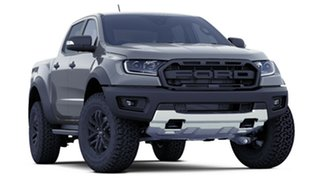 2018 Ford Ranger PX MkIII 2019.00MY Raptor Pick-up Double Cab Conquer Grey 10 Speed Sports Automatic.