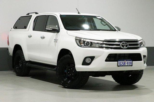 Used Toyota Hilux GUN126R MY17 SR5 (4x4), 2017 Toyota Hilux GUN126R MY17 SR5 (4x4) White 6 Speed Automatic Dual Cab Utility
