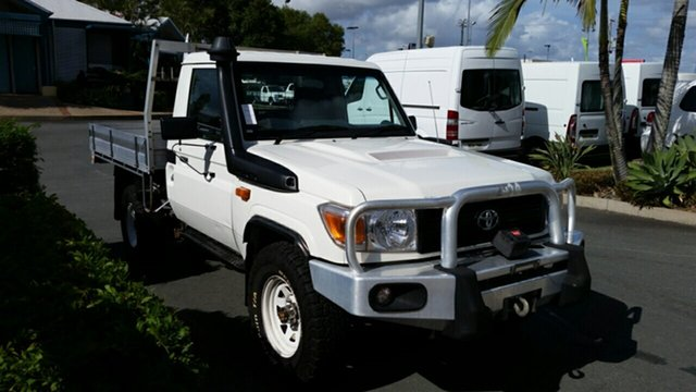 Used Toyota Landcruiser VDJ79R MY13 Workmate, 2014 Toyota Landcruiser VDJ79R MY13 Workmate French Vanilla 5 Speed Manual Cab Chassis