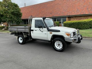 2012 Toyota Landcruiser VDJ79R Workmate White 5 Speed Manual Utility.