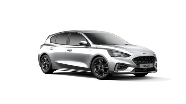 New Ford Focus SA 2019.75MY ST-Line, 2019 Ford Focus SA 2019.75MY ST-Line Moondust Silver 8 Speed Automatic Hatchback
