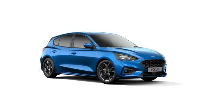 New Ford Focus SA 2019MY ST-Line, 2018 Ford Focus SA 2019MY ST-Line Desert Island Blue 8 Speed Automatic Hatchback