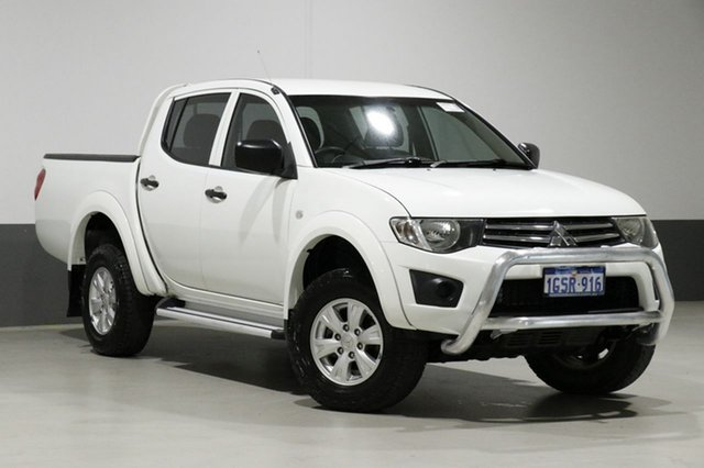 Used Mitsubishi Triton MN MY14 GLX (4x4), 2013 Mitsubishi Triton MN MY14 GLX (4x4) White 5 Speed Manual 4x4 Double Cab Utility