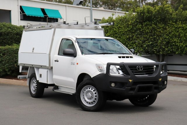 Used Toyota Hilux KUN26R MY12 SR, 2013 Toyota Hilux KUN26R MY12 SR White 5 Speed Manual Cab Chassis