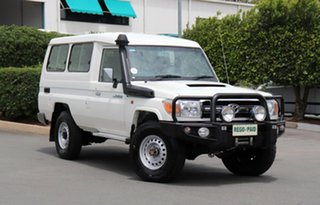 2015 Toyota Landcruiser VDJ78R GXL Troopcarrier French Vanilla 5 Speed Manual Wagon.