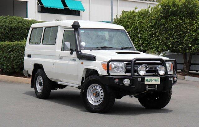 Used Toyota Landcruiser VDJ78R GXL Troopcarrier, 2015 Toyota Landcruiser VDJ78R GXL Troopcarrier French Vanilla 5 Speed Manual Wagon