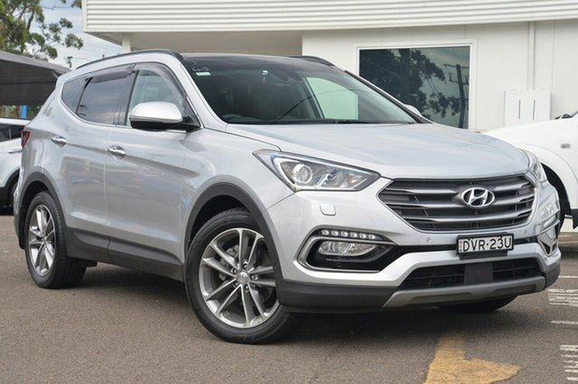 Used Hyundai Santa Fe DM3 MY17 Highlander, 2017 Hyundai Santa Fe DM3 MY17 Highlander Silver 6 Speed Sports Automatic Wagon