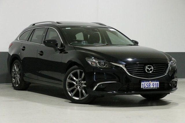 Used Mazda 6 6C MY15 GT, 2016 Mazda 6 6C MY15 GT Black 6 Speed Automatic Wagon