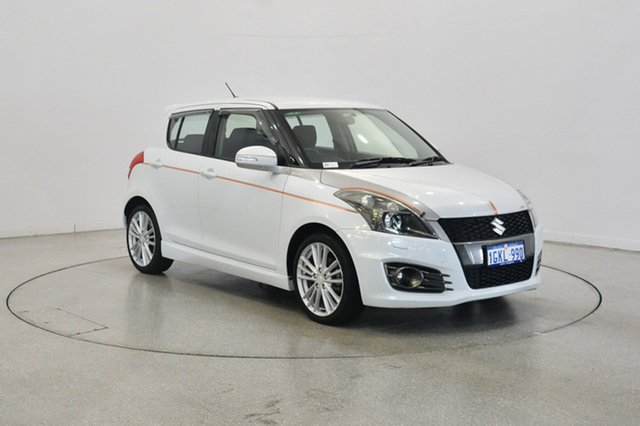 Used Suzuki Swift FZ Sport, 2013 Suzuki Swift FZ Sport White 7 Speed Constant Variable Hatchback