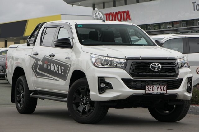 Demo Toyota Hilux GUN126R Rogue Double Cab, 2018 Toyota Hilux GUN126R Rogue Double Cab Crystal Pearl 6 Speed Sports Automatic Utility