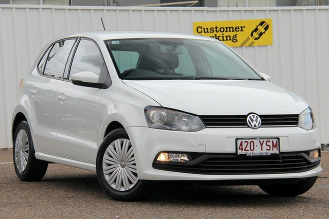 Used Volkswagen Polo 6R MY17 66TSI Trendline, 2016 Volkswagen Polo 6R MY17 66TSI Trendline White 5 Speed Manual Hatchback