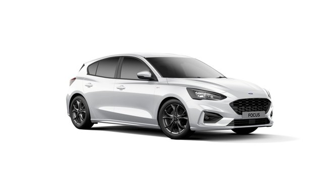 New Ford Focus SA 2019.75MY ST-Line, 2019 Ford Focus SA 2019.75MY ST-Line Frozen White 8 Speed Automatic Hatchback