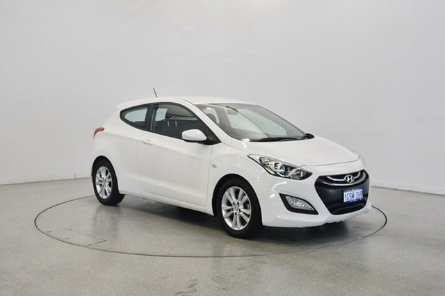 Used Hyundai i30 GD Active, 2013 Hyundai i30 GD Active Creamy White 6 Speed Sports Automatic Hatchback