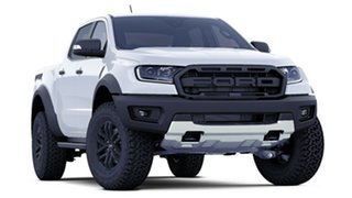 2018 Ford Ranger PX MkIII 2019.00MY Raptor Pick-up Double Cab Arctic White 10 Speed Sports Automatic.