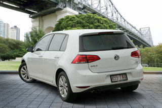 2013 Volkswagen Golf VII 90TSI DSG Comfortline White 7 Speed Sports Automatic Dual Clutch Hatchback.