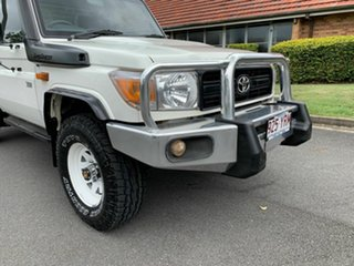 2012 Toyota Landcruiser VDJ79R Workmate White 5 Speed Manual Utility