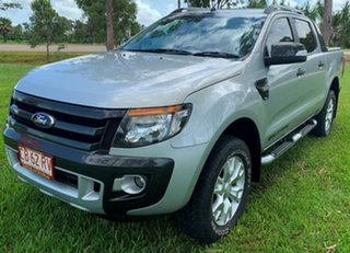 2014 Ford Ranger PX Wildtrak Double Cab Silver 6 Speed Automatic Utility
