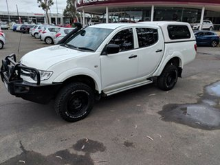 2015 Mitsubishi Triton MN MY15 GLX Double Cab 4x2 White 4 Speed Sports Automatic Utility.