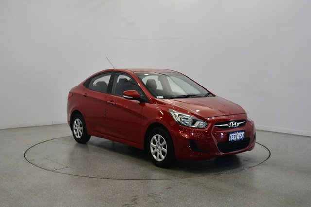 Used Hyundai Accent RB2 Active, 2014 Hyundai Accent RB2 Active Red 4 Speed Sports Automatic Sedan