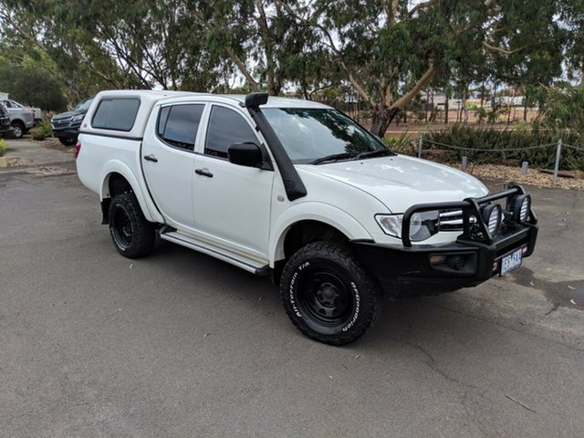 Used Mitsubishi Triton MN MY15 GLX Double Cab 4x2, 2015 Mitsubishi Triton MN MY15 GLX Double Cab 4x2 White 4 Speed Sports Automatic Utility