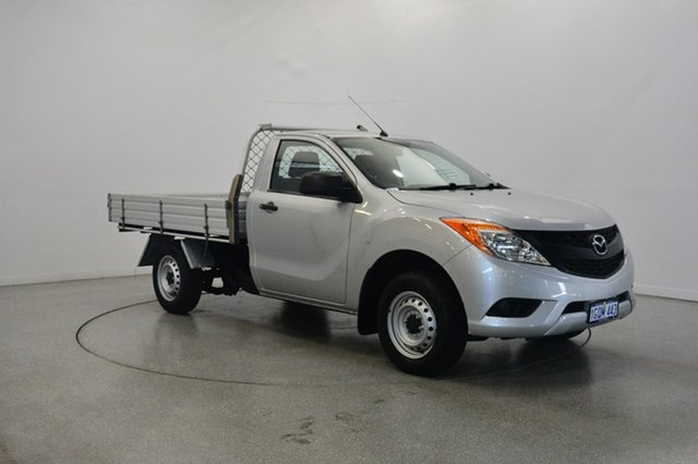 Used Mazda BT-50 UP0YD1 XT 4x2, 2013 Mazda BT-50 UP0YD1 XT 4x2 Silver 6 Speed Manual Cab Chassis