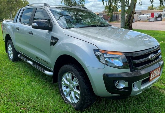 Used Ford Ranger PX Wildtrak Double Cab, 2014 Ford Ranger PX Wildtrak Double Cab Silver 6 Speed Automatic Utility
