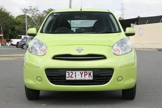 2013 Nissan Micra K13 MY13 ST Green 4 Speed Automatic Hatchback
