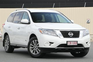 2014 Nissan Pathfinder R52 MY14 ST X-tronic 2WD Alpine White 1 Speed Constant Variable Wagon Hybrid.