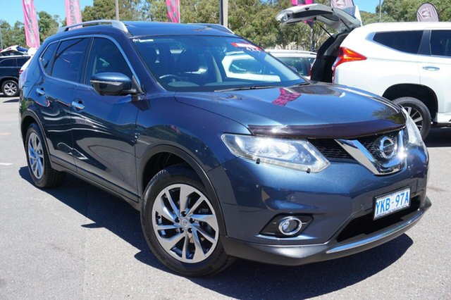 Used Nissan X-Trail T32 Ti X-tronic 4WD, 2014 Nissan X-Trail T32 Ti X-tronic 4WD Tempest Blue 7 Speed Constant Variable Wagon