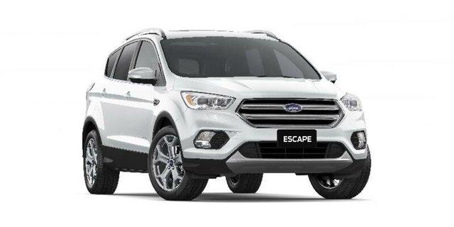 New Ford Escape ZG 2018.00MY Titanium PwrShift AWD, 2018 Ford Escape ZG 2018.00MY Titanium PwrShift AWD Frozen White 6 Speed