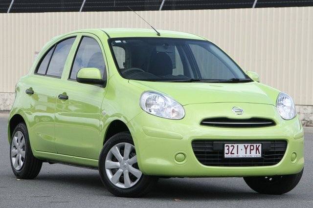 Used Nissan Micra K13 MY13 ST, 2013 Nissan Micra K13 MY13 ST Green 4 Speed Automatic Hatchback