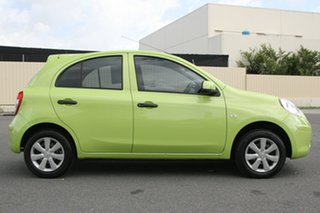 2013 Nissan Micra K13 MY13 ST Green 4 Speed Automatic Hatchback.