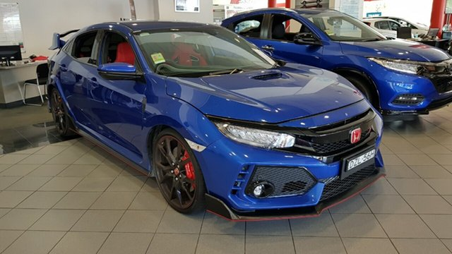 Demo Honda Civic 10th Gen MY18 Type R, 2018 Honda Civic 10th Gen MY18 Type R Brilliant Sporty Blue 6 Speed Manual Hatchback