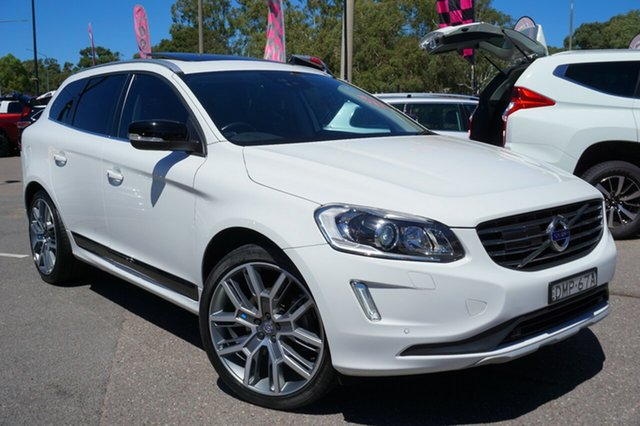 Used Volvo XC60 DZ MY15 T5 Geartronic Luxury, 2015 Volvo XC60 DZ MY15 T5 Geartronic Luxury White 8 Speed Sports Automatic Wagon