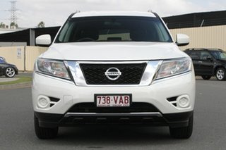 2014 Nissan Pathfinder R52 MY14 ST X-tronic 2WD Alpine White 1 Speed Constant Variable Wagon Hybrid