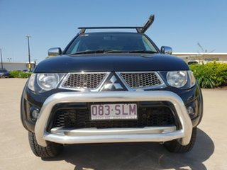 2012 Mitsubishi Triton MN MY12 GLX-R Double Cab Black 5 Speed Sports Automatic Utility