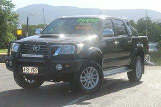 2011 Toyota Hilux KUN26R MY12 SR5 Double Cab Black 4 Speed Automatic Utility