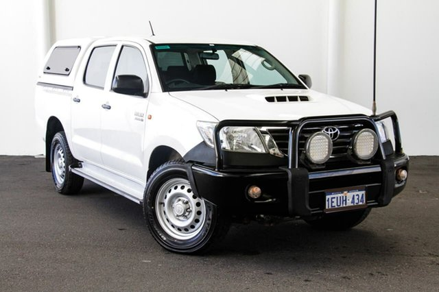 Used Toyota Hilux KUN26R MY14 SR Double Cab, 2015 Toyota Hilux KUN26R MY14 SR Double Cab Glacier White 5 Speed Automatic Utility