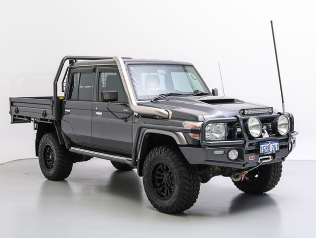 Used Toyota Landcruiser VDJ79R MY18 GXL (4x4), 2017 Toyota Landcruiser VDJ79R MY18 GXL (4x4) Graphite 5 Speed Manual Double Cab Chassis