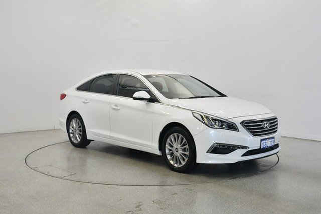 Used Hyundai Sonata LF2 MY16 Active, 2016 Hyundai Sonata LF2 MY16 Active Ice White 6 Speed Sports Automatic Sedan
