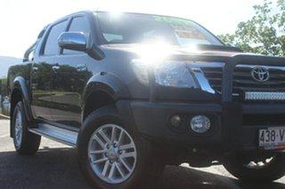 2011 Toyota Hilux KUN26R MY12 SR5 Double Cab Black 4 Speed Automatic Utility.