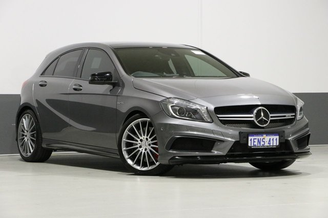 Used Mercedes-Benz A45 176 MY14 AMG, 2014 Mercedes-Benz A45 176 MY14 AMG Grey 7 Speed Auto Dual Clutch Hatchback